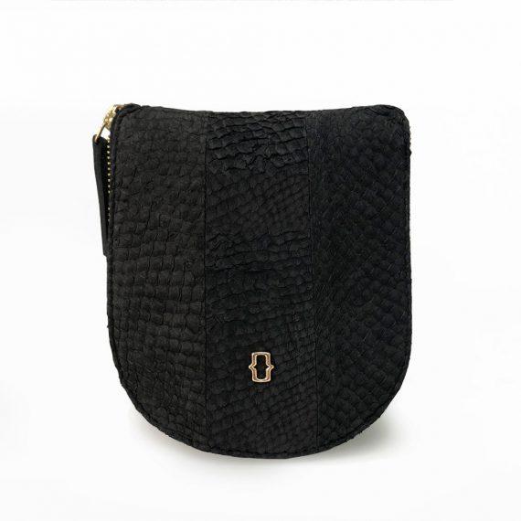 salmon leather bucket handbag sustainable luxury shop buy