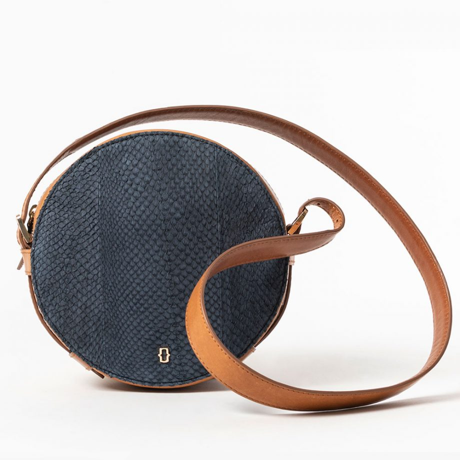 salmon leather bucket handbag sustainable luxury shop buy